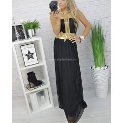 Sukienka maxi z tiulem Black