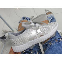 Adidasy High Gloss Silver