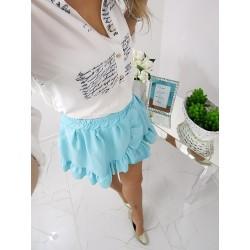 Rozkloszowana  spódnica mini, miętowa